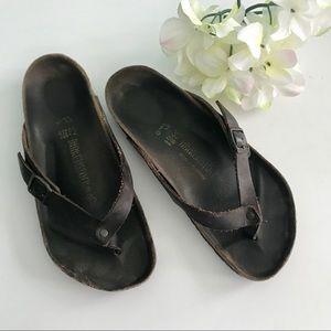 Birkenstock thong Sandal dark brown 37